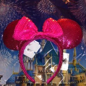 Disney pink Mickey Mouse Ears Headband NWT